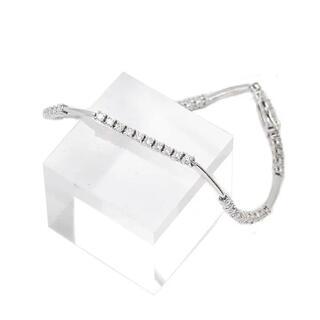 デビアス(DE BEERS)のデビアス ライン ブレスレット ダイヤモンド  【新品】1.5ct  18金 (ブレスレット/バングル)