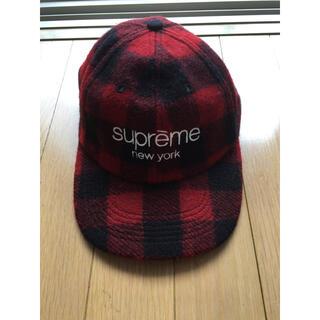 Supreme - supreme red check classic logo cap