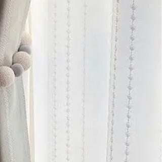 ニトリ - ニトリ 遮熱・ミラーレースカーテン シズク 100×176(2枚組)