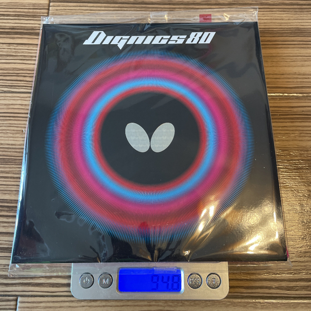 BUTTERFLY(バタフライ)のbutterfly(タマス) ディグニクス80 トクアツ(2.1mm) 赤 スポーツ/アウトドアのスポーツ/アウトドア その他(卓球)の商品写真
