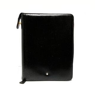 モンブラン(MONTBLANC)のモンブラン 手帳 - 黒 ラウンドファスナー(その他)
