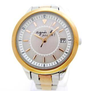 アニエスベー(agnes b.)のagnes b(アニエスベー) 腕時計 - V182-0AN0(腕時計)