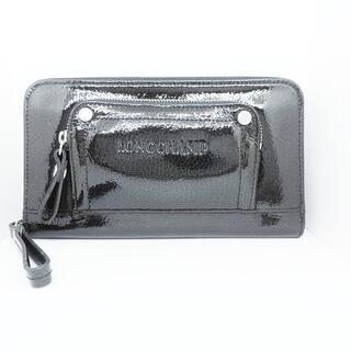 ロンシャン(LONGCHAMP)のLONGCHAMP(ロンシャン) 長財布美品  - 黒(財布)