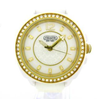 コーチ(COACH)のコーチ 腕時計美品  ミニシグネチャー柄 白(腕時計)