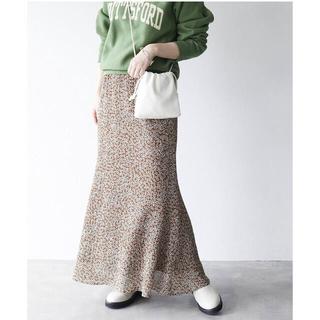 IENA SLOBE - スローブイエナ ダリアプリントマーメイドスカート