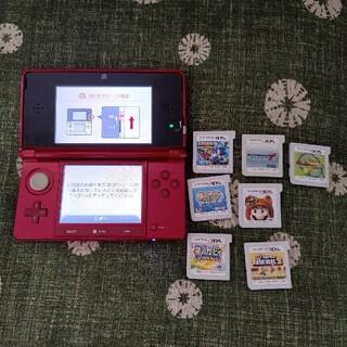 任天堂 - 3DS メタリックレッド ソフト7本セット!