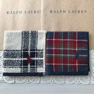 POLO RALPH LAUREN - 新品 ラルフローレン タオルハンカチ 2枚セット