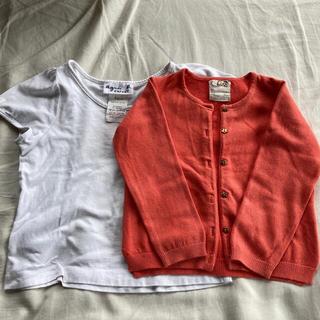 アニエスベー(agnes b.)のアニエスベー 8ans & zara カーディガン 98cm(Tシャツ/カットソー)