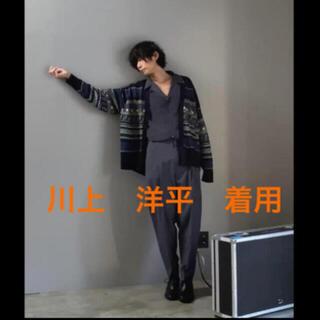 ラッドミュージシャン(LAD MUSICIAN)のlad musician 川上洋平 着用 カーディガン トートバッグ 21ss(カーディガン)