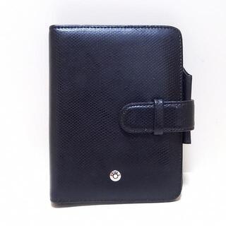 モンブラン(MONTBLANC)のMONTBLANC(モンブラン) 手帳 - 黒 レザー(その他)