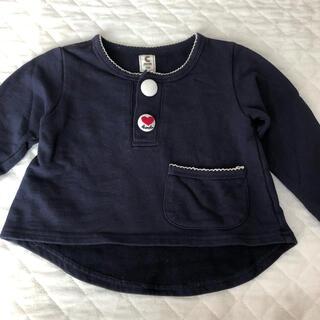 ショコラ(Chocola)の紺色トレーナー 100cm(Tシャツ/カットソー)