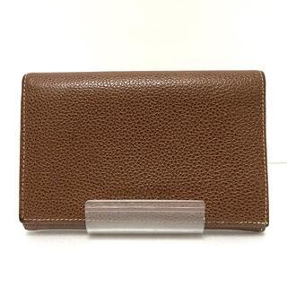 ロンシャン(LONGCHAMP)のロンシャン 2つ折り財布 - ブラウン レザー(財布)
