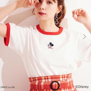ヘザー(heather)のHeather リンガーT ミッキーT Disney Fsize(Tシャツ(半袖/袖なし))