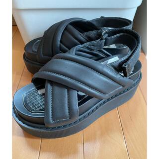 ディーゼル(DIESEL)のDIESEL ディーゼル 厚底サンダル 靴 直営店購入(サンダル)