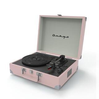 ONKYO - ポータブルレコードプレーヤー Bluetooth搭載 オンキョー ピンク