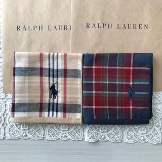 ポロラルフローレン(POLO RALPH LAUREN)の新品 ラルフローレン タオルハンカチ 2枚セット(ハンカチ)