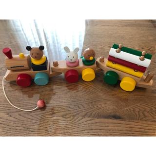 ミキハウス(mikihouse)のミキハウス 木製 おもちゃ プルトーイ 汽車(知育玩具)