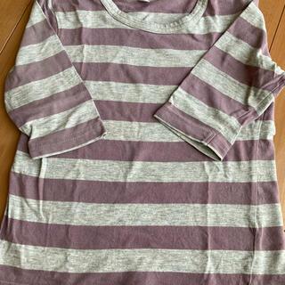 MUJI (無印良品) - 無印  7部袖ボーダーTシャツ 100㎝