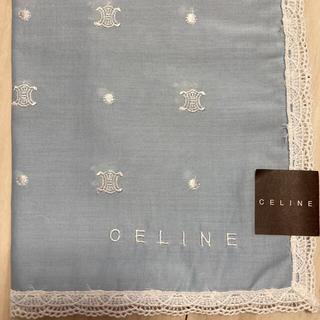 celine - セリーヌ CELINE マカダム柄 総刺繍入り 大判ハンカチ