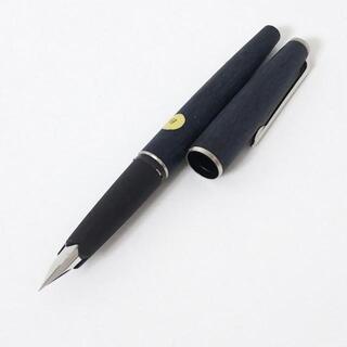 モンブラン(MONTBLANC)のモンブラン 万年筆 - ネイビー×シルバー(ペン/マーカー)