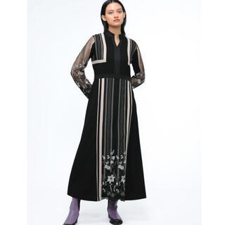 mame - murral Framed flower dress サイズ1