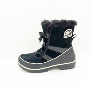 ソレル(SOREL)のソレル ブーツ CM23.5 レディース - 黒×白(ブーツ)