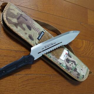 ヒルバーグ(HILLEBERG)のH&O JOHN ARMY OF ONLY ONE 牛刀 アーミーナイフ型の包丁(調理器具)