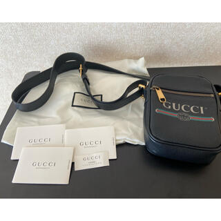 Gucci - ★GUCCI★ロゴプリントレザーショルダーバッグ