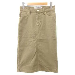 ドゥーズィエムクラス(DEUXIEME CLASSE)のドゥーズィエムクラス 製品染め スカート タイト ひざ丈 ベージュ 34(ひざ丈スカート)