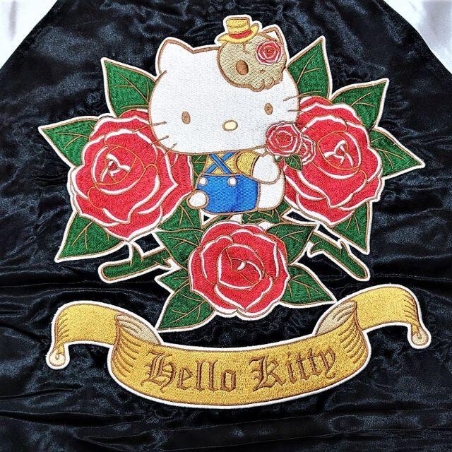 ハローキティ(ハローキティ)の新品 LL ブラック ハローキティ スカジャン 刺繍 サンリオ メンズのジャケット/アウター(スカジャン)の商品写真