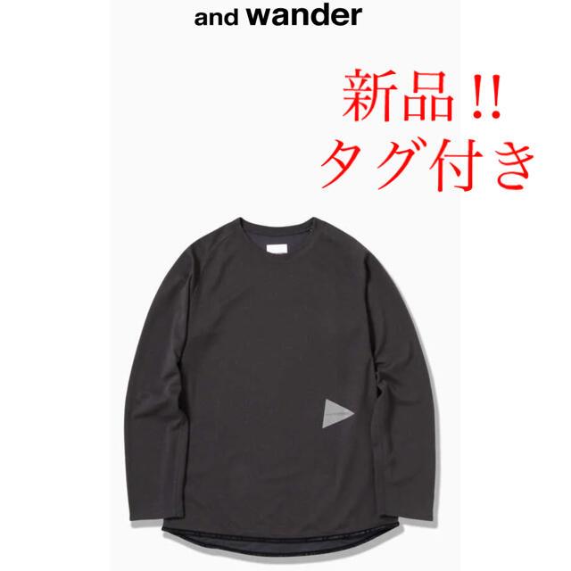 新品!and wander パワードライジャージーラグランロングスリーブT スポーツ/アウトドアのアウトドア(登山用品)の商品写真