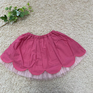 KP - ニットプランナー☆スカラップチュールスカート100 ピンク