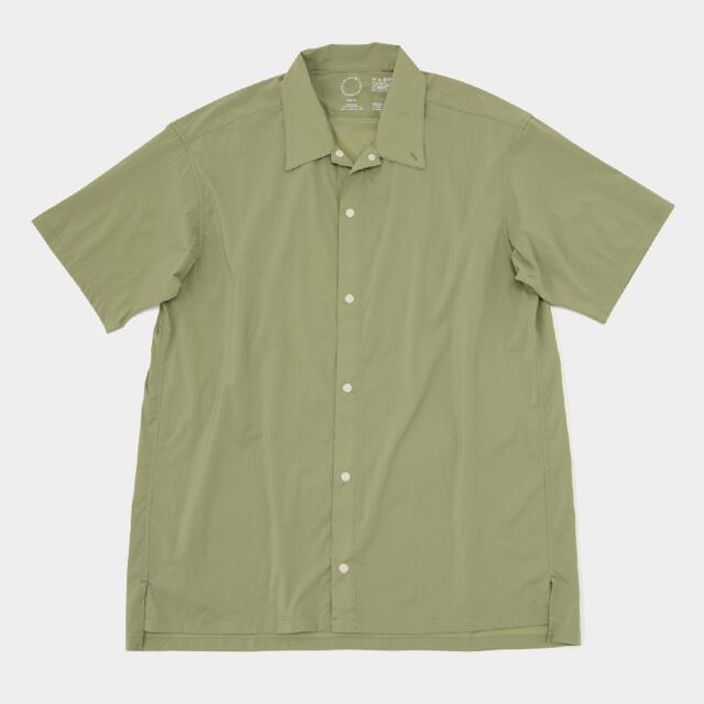 山と道 UL Short Sleeve Shirt light Olive  スポーツ/アウトドアのアウトドア(登山用品)の商品写真