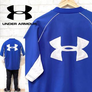 UNDER ARMOUR - UNDER ARMOUR アンダーアーマー 裏起毛 ゲームシャツ ビッグロゴ
