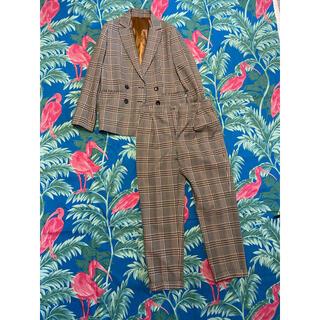 THE SUIT COMPANY - 【スーツカンパニー】タータンチェックダブルブレストスーツ