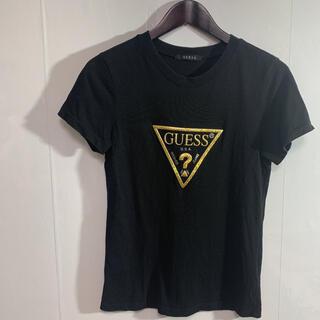ゲス(GUESS)のGUESS Tシャツ S-M 黒 品番38(Tシャツ/カットソー(半袖/袖なし))