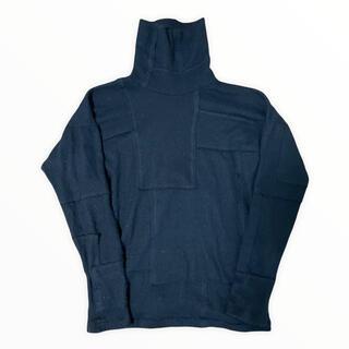 カラー(kolor)の1 KOLOR ブラック アンゴラ タートルネック ニット セーター カラー(ニット/セーター)