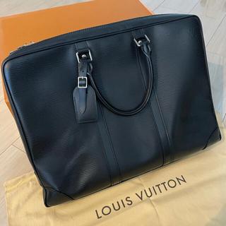 LOUIS VUITTON - 美品 エピ ポルト ドギュマン ノアール ビジネスバッグ ブリーフケース