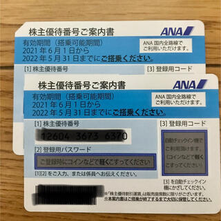 ANA 株主優待券 2枚(ショッピング)