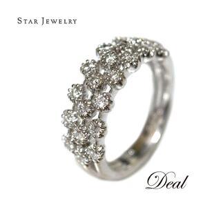 STAR JEWELRY - スタージュエリー K18WG ダイヤモンド リング レディース 8.5号