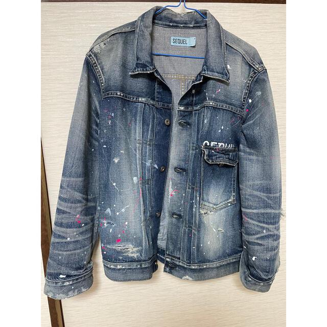 FRAGMENT(フラグメント)のsequel SQ-20aw-JK08 デニムジャケット M メンズのジャケット/アウター(Gジャン/デニムジャケット)の商品写真