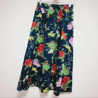 リリーブラウン(Lily Brown)の【新品未使用】お花柄フレアースカート♡(ひざ丈スカート)