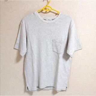 ユナイテッドアローズ(UNITED ARROWS)の【値下げ・着画】ユナイテッドアローズ ニットTシャツ ライトグレー(Tシャツ/カットソー(半袖/袖なし))