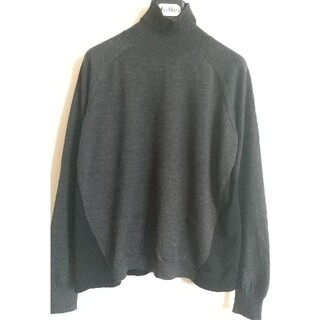 Marni - MARNI マルニ のハイネック セーター グレー×ブラック