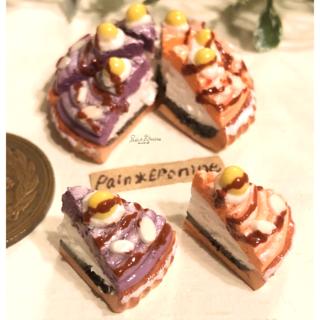【ミニチュア】紫芋とカボチャのモンブランタルト(ミニチュア)