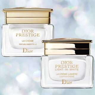 ディオール(Dior)のディオール プレステージ ラ クレーム + ホワイト ラ クレーム ルミエール(フェイスクリーム)