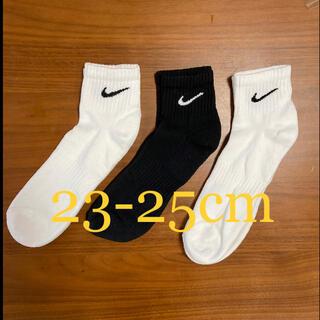 NIKE - 【新品未使用】NIKE  3足組 靴下 クウォーター 23.0cm〜25.0cm