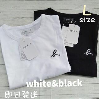 agnes b. - アニエスベー Lサイズ 2枚セット ブラック ホワイト 半袖 Tシャツ