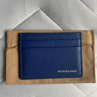バーバリー(BURBERRY)の[美品] Burberry 名刺入れ 青色(名刺入れ/定期入れ)