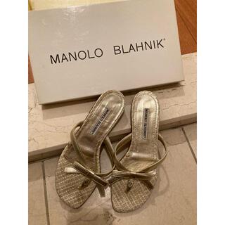 マノロブラニク(MANOLO BLAHNIK)のマノロブラニク リボンサンダル 35  MANOLO BLAHNIK(サンダル)